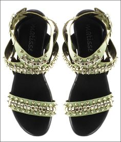 Studded Flat Leather Sandals #shoes #summerstyle #sandals