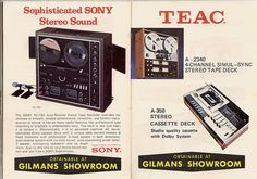 Sony And Teac Reel To Reel Tape Decks, via Flickr