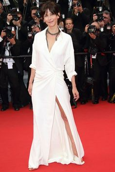 Sophie Marceau, in Alexandre Vauthier Couture and snake necklace from Chopard's Animal World collection, at 'Mad Max: Fury Road' premiere during the 2015 Cannes FF Sophie Marceau, Vogue Fashion, Star Fashion, Fashion Outfits, Vogue Uk, Fashion 2015, Alexandre Vauthier, Celebrity Outfits, Celebrity Look