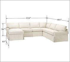 Pottery barn sectional sofa  sc 1 st  Pinterest : 4 piece sectional slipcover - Sectionals, Sofas & Couches