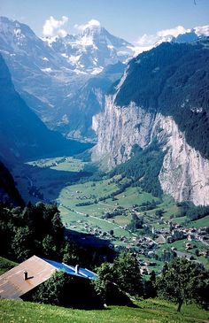The Swiss Alps. I want to go see this place one day. Please check out my website thanks.