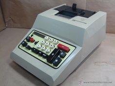 ANTIGUA CALCULADORA OLIVETTI - ELECTROSUMA 20 IMPRESORA - MADE IN SPAIN AÑOS 60 - SUMADORA