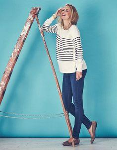 Breton Side Snap Nursing Sweater | Seraphine Love maternity fashion, Stylish your comfy maternity jeans with stylish nursing sweaters!