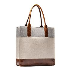 Terrain tote in felt and leather - very nice