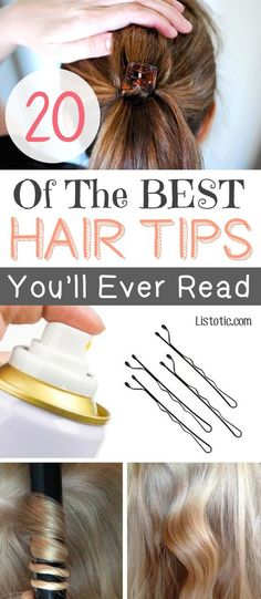 Lots of great hair tips and tricks that you probably don't know about! Listotic.com