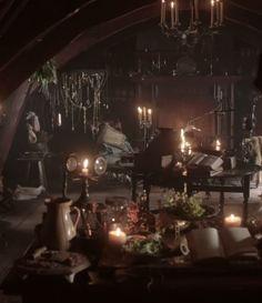 Geillis Duncan's apothecary | Outlander S1E3 'The Way Out' on Starz