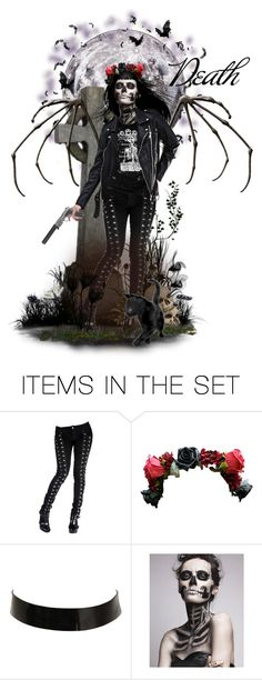 """""""Death"""" by darksyngr ❤ liked on Polyvore featuring art, goth, death, Dayofthedead and reaper"""