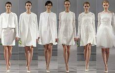 Parece que o calor dos trópicos finalmente foi notado pelos designers de noiva internacionais, e muitas opções de vestidos curtos foram exib...