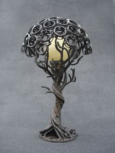 I absolutely adore the visuals - thanks a lot for posting - art nouveau style Metal Sculpture Artists, Steel Sculpture, Metal Tree Wall Art, Scrap Metal Art, Welded Metal Art, Art Nouveau, Pimp Your Bike, Lampe Metal, Welding Art Projects
