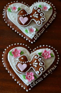 Czech Gingerbread Wedding Hearts