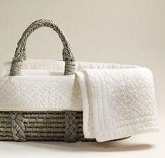 Moses baby basket for the first few weeks on this earth!