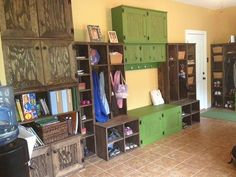 Photo: Shared with us by one of our recent customers!! She created plenty of storage in her families Craft room! What kind of storage system will YOU create?!? Now is the perfect time! Only TWO DAYS LEFT!! For our super savings on furniture! (See previous post for Coupon Code) - Does not pertain to Custom units, sorry.