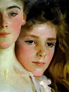 Mrs. Fiske Warren and Daughter Rachel, Detail, 1903 // John Singer Sargent