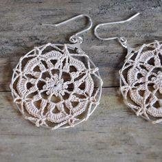 crochet doily earrings