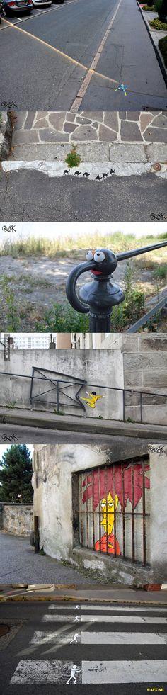 This kind of street art makes me smile!