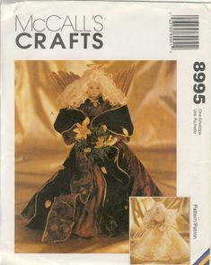 Vintage McCall Sewing Pattern 8995 - Use to Make - 16 Inch Angels - crock pot memes Christmas Sewing Patterns, Modern Sewing Patterns, Mccalls Sewing Patterns, Sewing Cabinet, Amazon Art, Sewing Stores, Sewing Crafts, Angels, How To Make