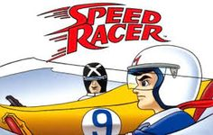 A cartoon picture of Speed Racer and Racer X racing to the finish line. My husband grew up watching Speed Racer. 90s Childhood, Childhood Memories, Speed Racer Cartoon, Old School Cartoons, 80 Cartoons, Nostalgia, Saturday Morning Cartoons, Cartoon Tv, Cartoon Picture