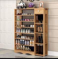 Heavy-duty Wood Shoe Rack Freestanding Shoe Storage Shelf Organizer for sale online 8 Tier Shoe Rack, Shoe Rack Bench, Shoe Rack With Shelf, Shoe Shelves, Rack Shelf, Shoe Cabinet, Cabinet Decor, Shoe Rack Living Room, Modern Shoe Rack