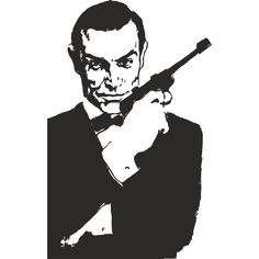 Sticker vinyl James Bond
