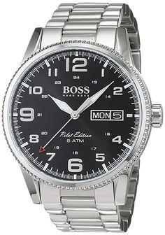 Hugo Boss Herren-Armbanduhr 1513327 Stahl/Schwarz - 241.00 - 5.0 von 5 Sternen - Herren Uhren 2019 Breitling, Hugo Boss, Rolex Watches, Accessories, Bracelet Watch, Clocks, Steel, Black