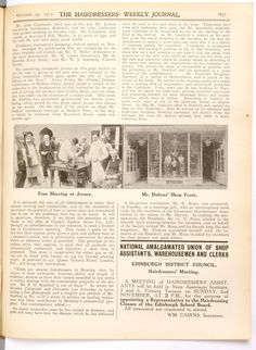Hairdressing news and notices dating from 1912.