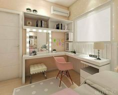 Trendy bedroom desk decor girls home office Ideas Baby Room Design, Girl Bedroom Designs, Baby Room Decor, Tiny Bedroom Design, Small Room Design, Wall Decor, Cozy Home Office, Home Office Design, House Design