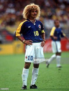 Fifa Football, Football Icon, Football Boys, World Football, Soccer World, Football Jerseys, Carlos Valderrama, Colombia Soccer, International Soccer