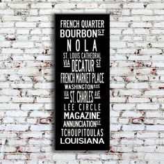 Uptown Artworks New Orleans Sign.