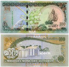 100 Rufiyaa Maldive Islands 2013