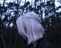 Image de grunge, hair, and moon
