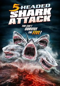 5 Headed Shark Attack 2017 2 out of 10 #BadSharkMovies