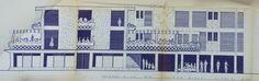 Hotel Los Reyes Prop Roberto Reyes 1956 Costera Miguel Alemán 94, Las Playas Plano original de la Fachada