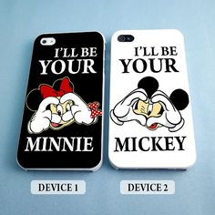 I'll Be Your Minnie and I'll Be Your Mickey - Disney Couples Phone Case - Rubber and Plastic Available iPhone 4/4S, 5/5S