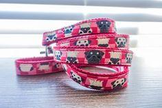 Pug dog leash harness pet collar accessories Custom dog
