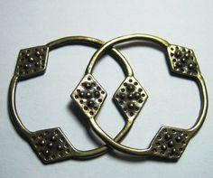 novgorod slovene temple rings/kolty -bronze, $22