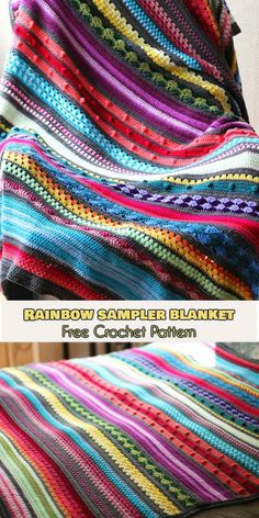 Wonderful Pics scrap yarn Crochet Blanket Thoughts Here i will discuss a collection of crochet tricks and tips to generate your own crocheting a lot ea Crochet Afghans, Crochet Sampler Afghan Pattern, Motifs Afghans, Crochet Pattern Free, Crochet Gratis, Crochet Flower Patterns, Afghan Crochet Patterns, Blanket Crochet, Crochet Flowers