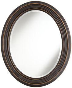 "Uttermost 14610 Ovesca - 28"" Oval Mirror, Dark Oil Rubbed Bronze/Gold Highlight Finish with Beveled Glass Uttermost,http://www.amazon.com/dp/B00ED760VE/ref=cm_sw_r_pi_dp_yy01sb0R3YFGFPEX"
