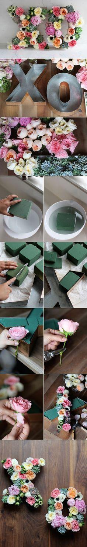 DIY Floral Letters Using Floral Foam