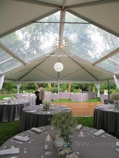 Outdoor Wedding Tent Rental With Clear Roof #summerweddingschicago #outdoorwedding