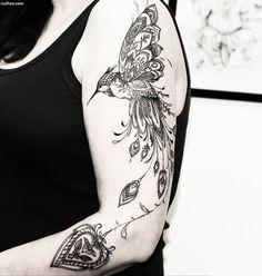 100 Best Arm Tattoo Designs for Ladies - Tattoo Fonts Model Tattoos, Body Art Tattoos, Fly Tattoos, Best Tattoo Designs, Tattoo Designs For Women, Bird Tattoos For Women, Tattoo Mutter, Natur Tattoos, Tattoo Trend