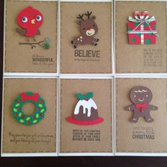 Cricut Christmas cards handmade Xmas create a critter 2 winter frolic by willow fox design