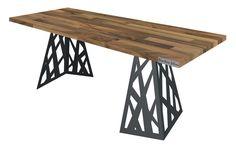 2Corners - Laser Cut Metal & Wood Table
