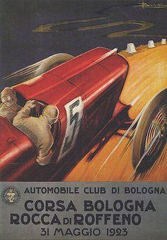 1923-CAR-RACE-CORSA-BOLOGNA-ITALY-ROCCA-ROFFENO