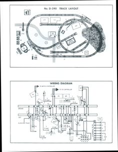 D291 Track Layout and Wiring Diagram Lionel Train Dealer Display