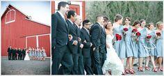 bridal party shoot at pickering barn