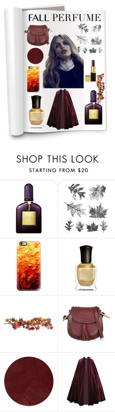 """""""Fall-ing for You"""" by louiseabunn ❤ liked on Polyvore featuring beauty, Tom Ford, Tim Holtz, Casetify, Deborah Lippmann, Nearly Natural, See by Chloé and Burberry"""