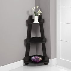 This cappuccino corner etagere offers a stylish solution to needing more storage space in your home. Featuring a three tiered design and a warm cappuccino Bathroom Accents, Cabinet Shelving, Bathroom Shelves, Bathroom Ideas, Glass Shelves, Bathroom Tower, Bathroom Storage, Small Bathroom, Bathroom Table