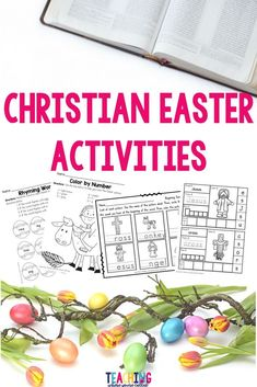 Educational resources for students to use during the Easter season that focuses on the death and resurrection of Christ