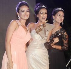 Surbhi Jyoti, Nia Sharma and Krystle D'Souza at the launch of Telly Calendar 2015. #Bollywood #Fashion #Style #Beauty