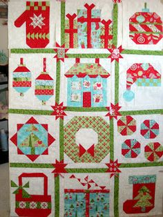 adorable Christmas quilt